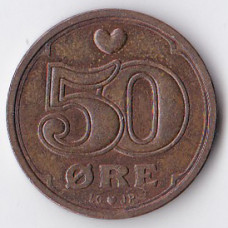 50 эре 1992 Дания - 50 ore 1992 Denmark