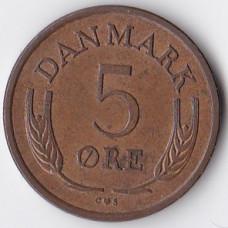 5 эре 1963 Дания - 5 ore 1963 Denmark