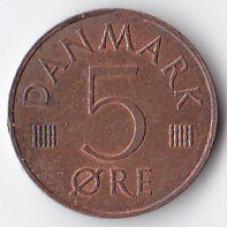 5 эре 1977 Дания - 5 ore 1977 Denmark