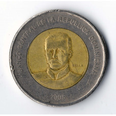 10 Peso 2008 Republica Dominicana - 10 Песо 2008 Республика Доминикана, из оборота