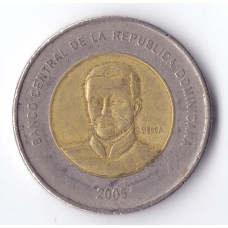 10 Peso 2005 Republica Dominicana - 10 Песо 2005 Республика Доминикана, из оборота