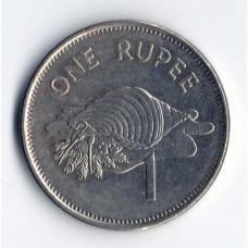 1 рупия 2007 Сейшельские острова - 1 rupee 2007 Seychelles, из оборота