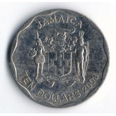 10 долларов 2008 Ямайка - 10 dollars 2008 Jamaica, из оборота
