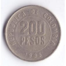 200 песо 1995 Колумбия - 200 pesos 1995 Colombia, из оборота