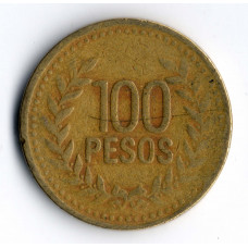 100 песо 1994 Колумбия - 100 pesos 1994 Colombia, из оборота