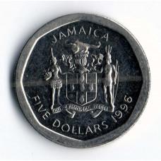 5 долларов 1996 Ямайка - 5 dollars 1996 Jamaica, из оборота