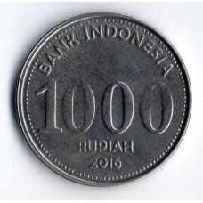 1000 рупий 2016 Индонезия - 1000 rupiah 2016 Indonesia, из оборота