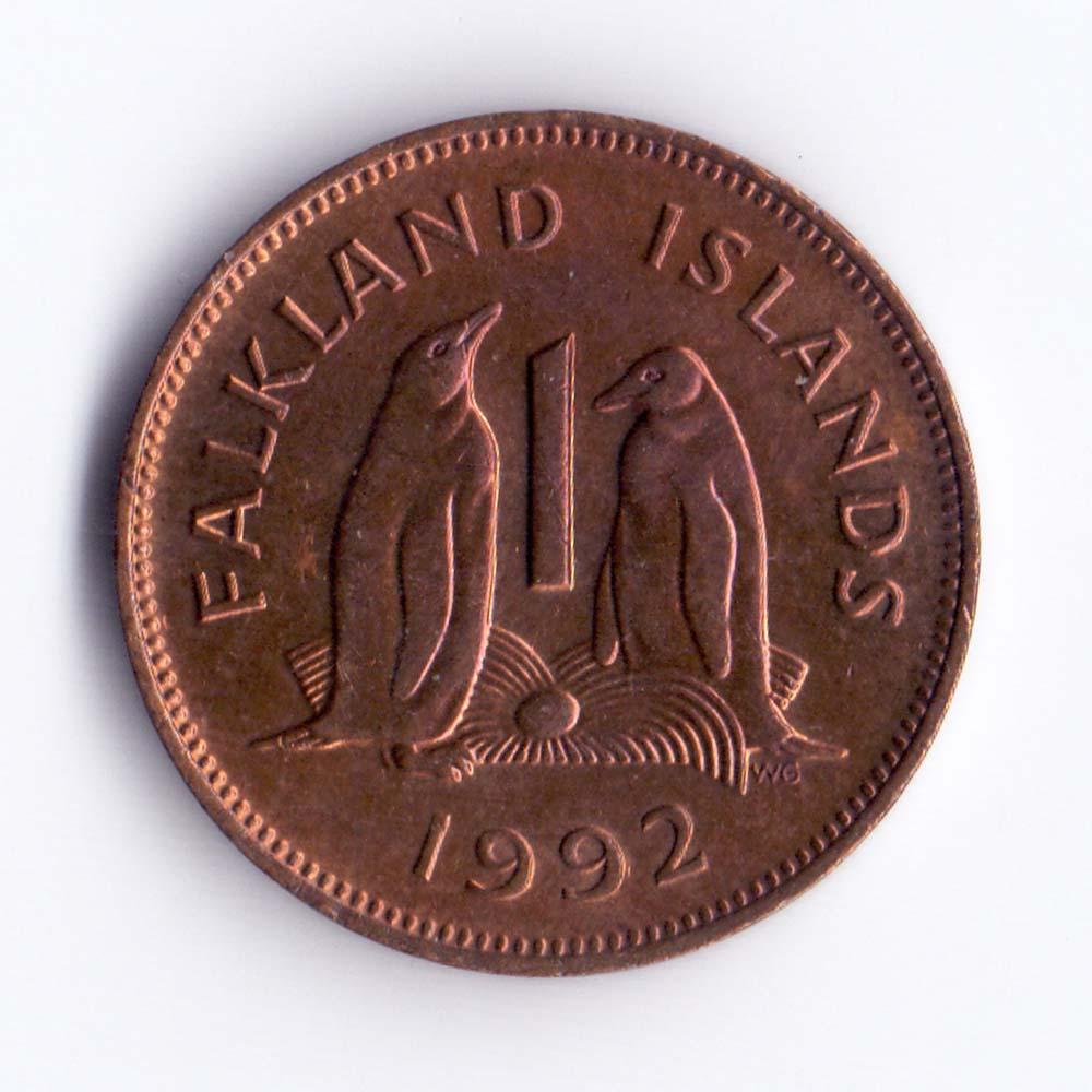 1 пенни 1992 Фолклендские острова - 1 penny 1992 Falkland Islands