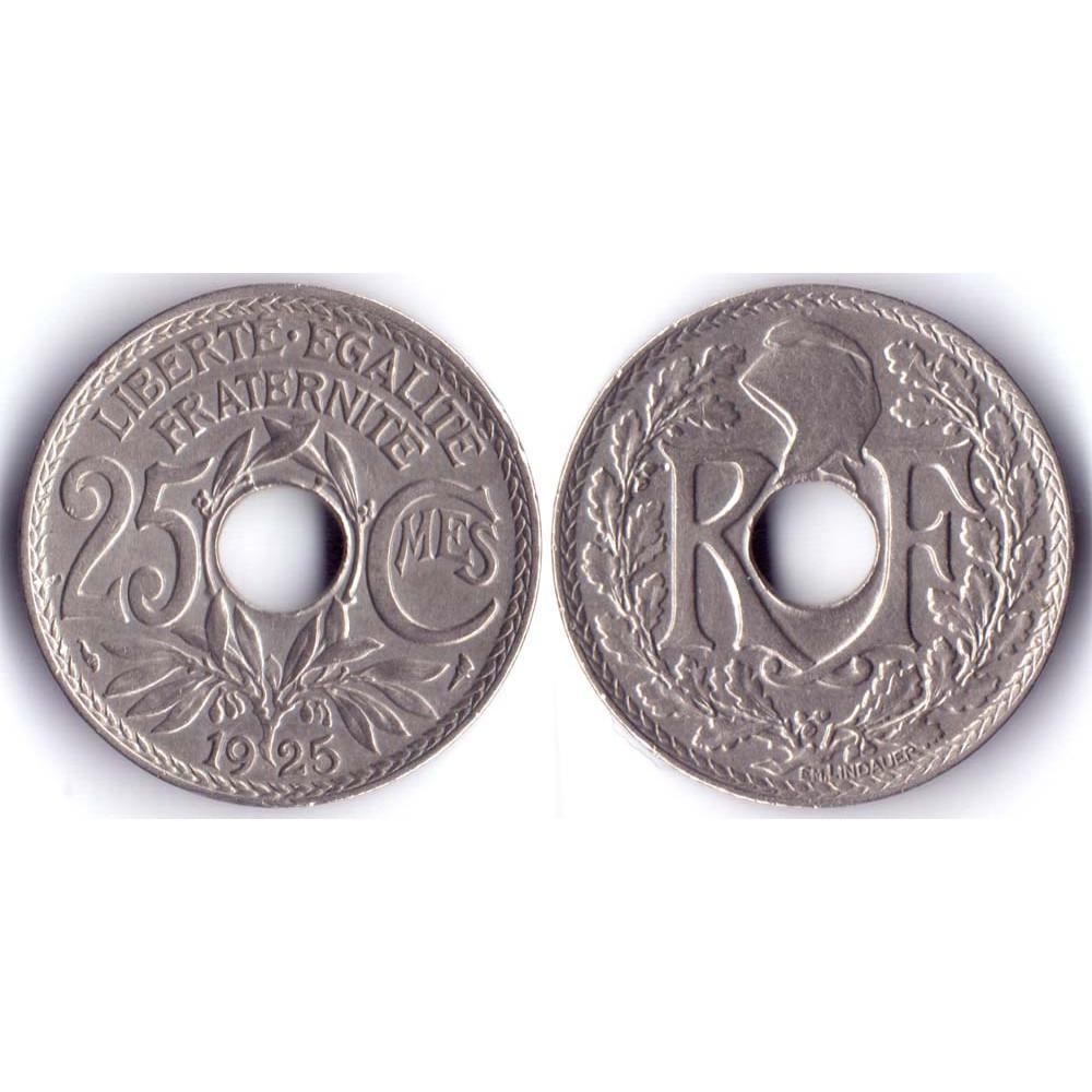 25 Centimes 1925 France - 25 Сантимов 1925 Франция