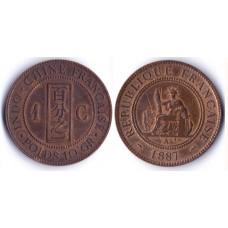 1 Centime 1887 REPUBLIQUE FRANÇAISE - 1 Сантим 1887 Франция