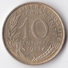 10 сантимов 1977 Франция - 10 centimes 1977 France