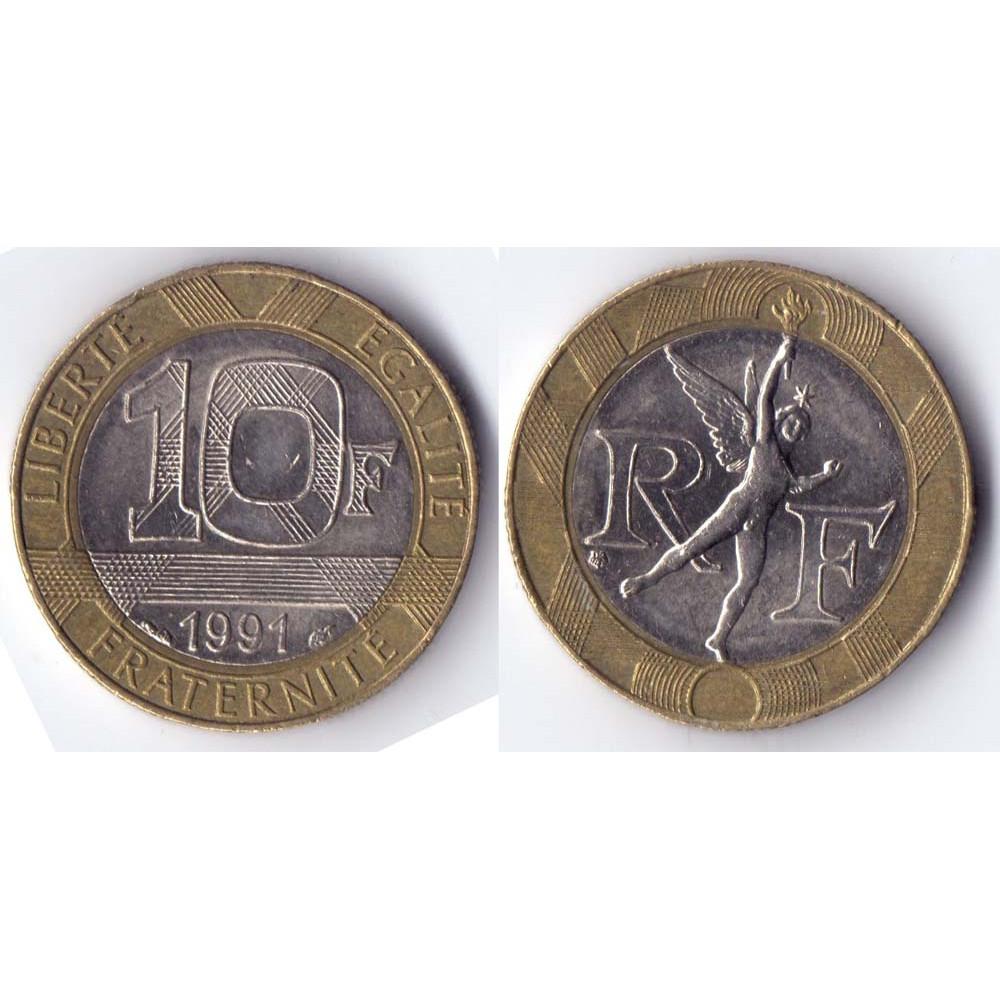 10 francs 1991 France - 10 франков 1991 Франция