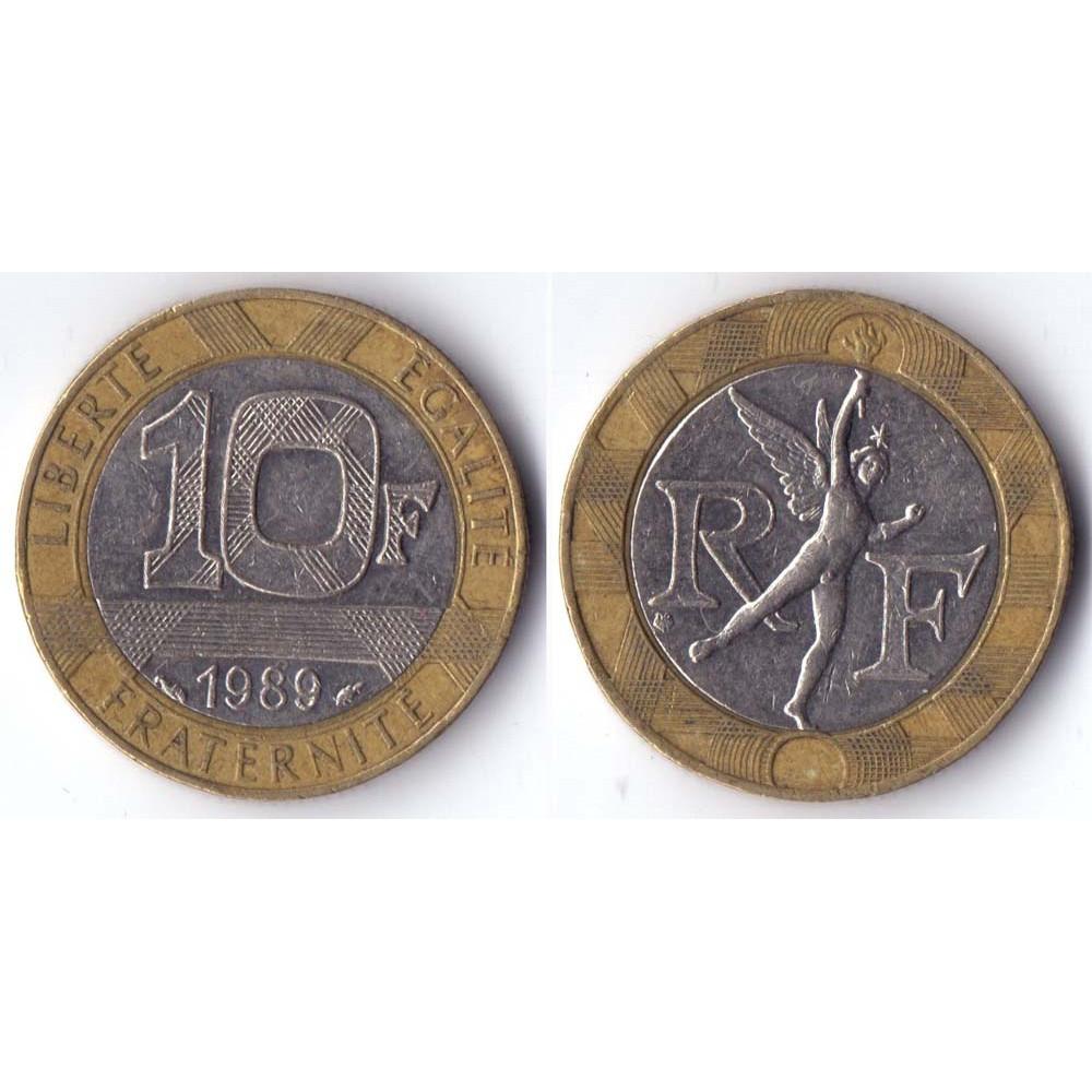 10 francs 1989 France - 10 франков 1989 Франция