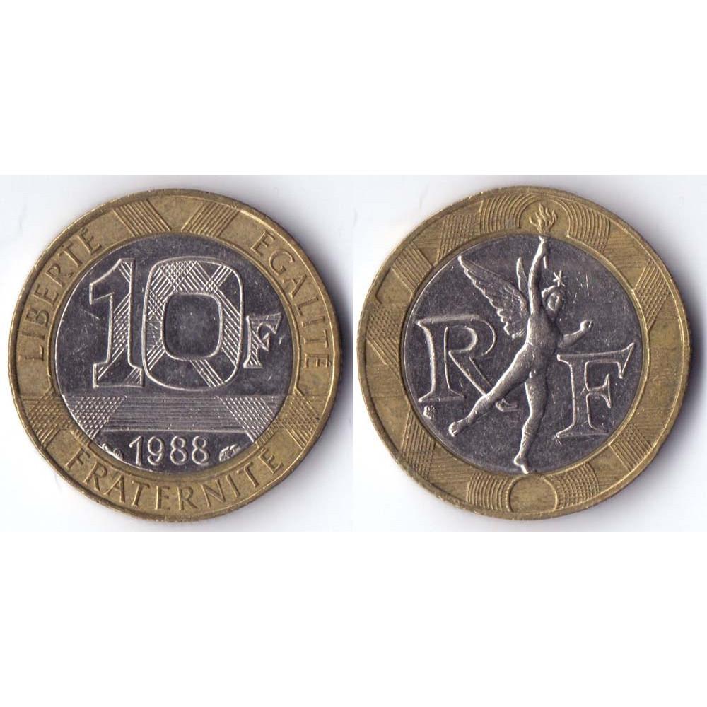 10 francs 1988 France - 10 франков 1988 Франция