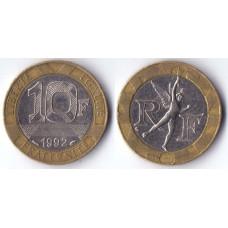 10 francs 1992 France - 10 франков 1992 Франция