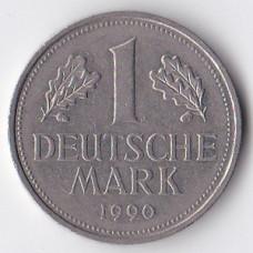 1 марка 1990 Германия - 1 mark 1990 Germany, J