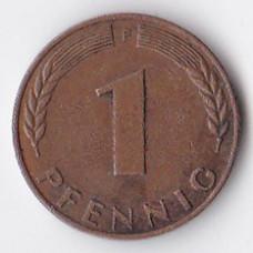 1 пфенниг 1950 Германия - 1 pfennig 1950 Germany, F
