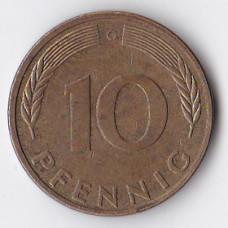 10 пфеннигов 1990 Германия - 10 pfennig 1990 Germany, G