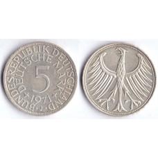 5 mark 1971 J BUNDESREPUBLIK DEUTSCHLAND - 5 марок 1971 J Германия ФРГ