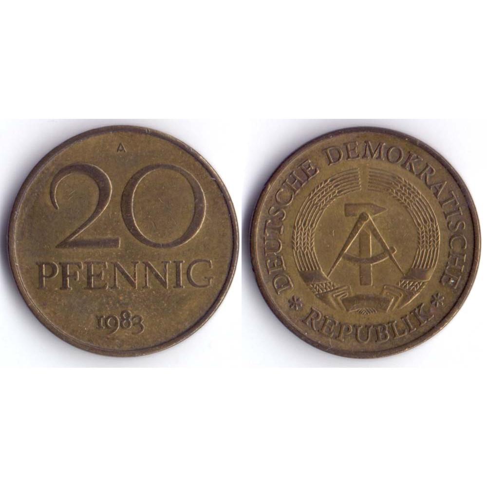 20 pfennig 1983 А DEUTSCHE DEMOKRATISCHE REPUBLIK - 20 пфеннигов 1983 А Германия ГДР