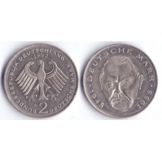 2 mark 1992 A BUNDESREPUBLIK DEUTSCHLAND - 2 марки 1972 A Германия , Людвиг Эрхард, 40 лет Федеративной Республике (1948-1988)