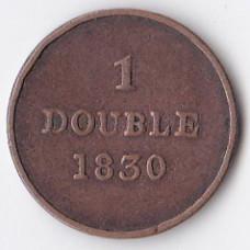 1 дубль 1830 Гернси - 1 double 1830 Guernsey