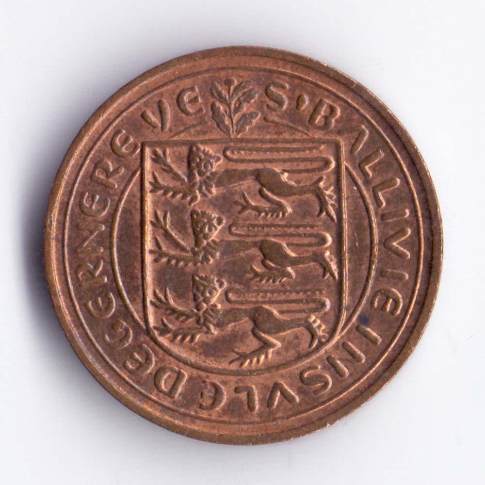 1 новый пенни 1971 Гернси - 1 new penny 1971 Guernsey