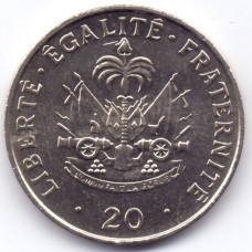 20 сантимов 1991 Гаити - 20 centimes 1991 Haiti, из оборота, из оборота