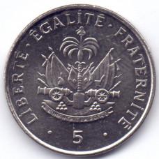 5 сантимов 1997 Гаити - 5 centimes 1997 Haiti, из оборота