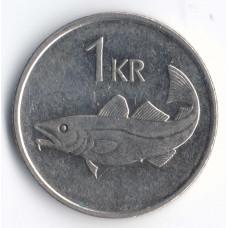 1 крона 2007 Исландия - 1 krona 2007 Island, из оборота