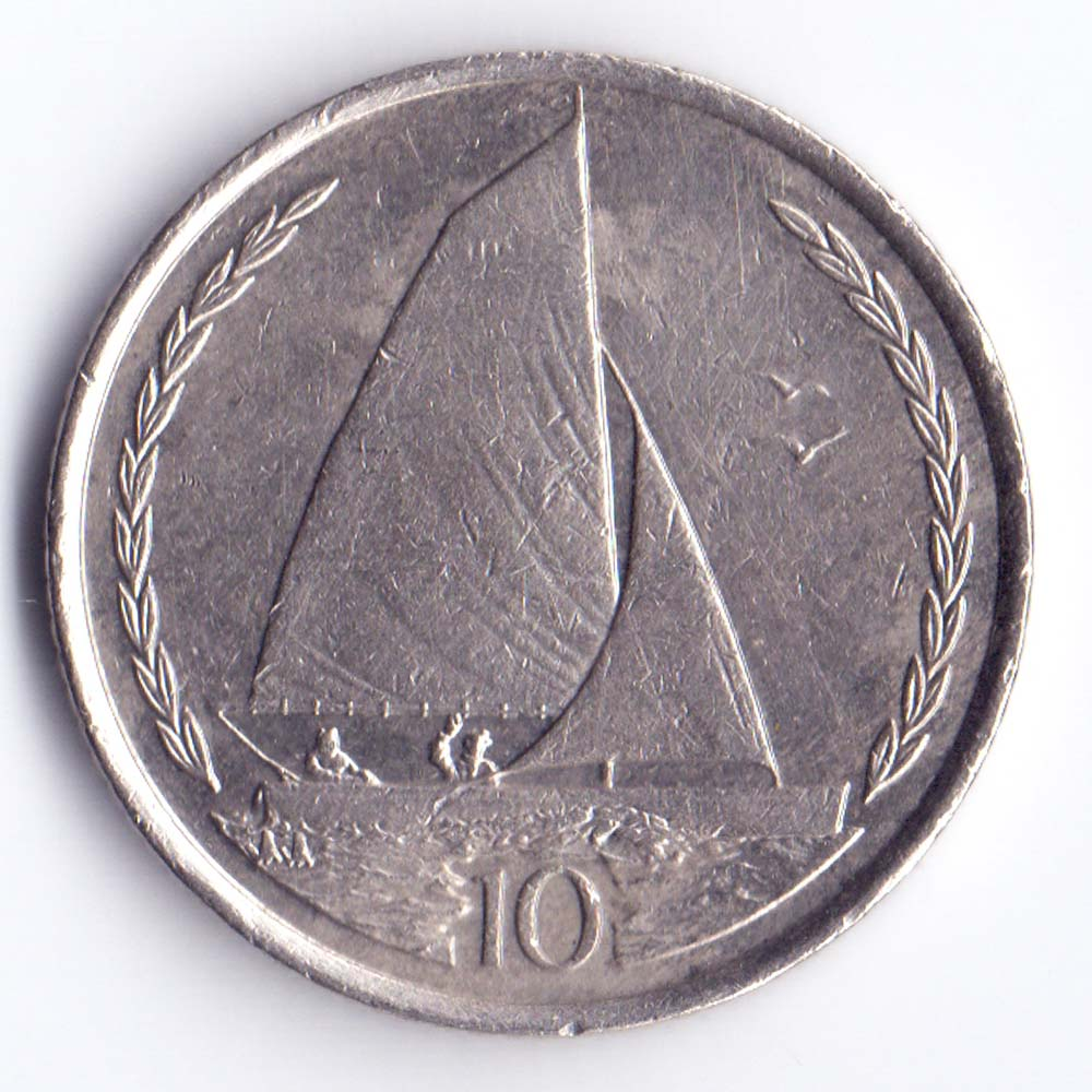 10 пенсов 1996 Остров Мэн - 10 pence 1996 Isle of Man