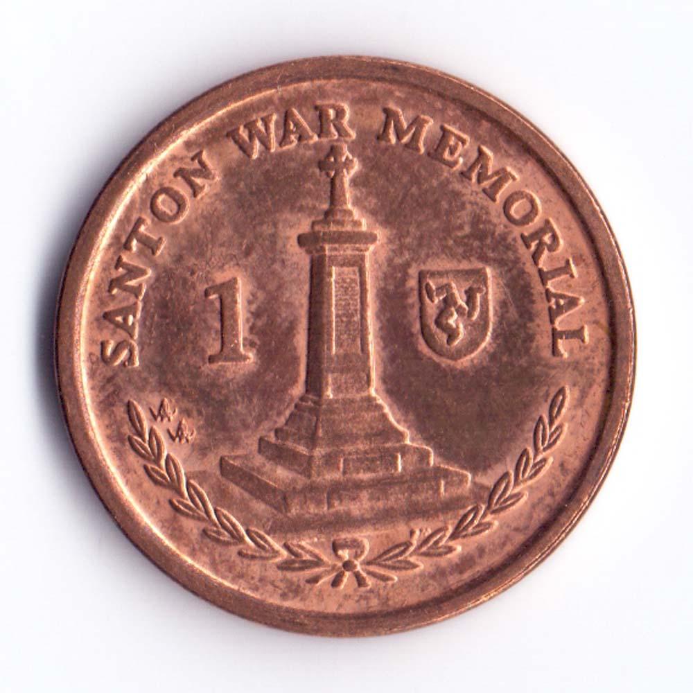 1 пенни 2008 Остров Мэн - 1 penny 2008 Isle of Man