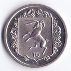 10 пенсов 1987 Остров Мэн - 10 pence 1987 Isle of Man