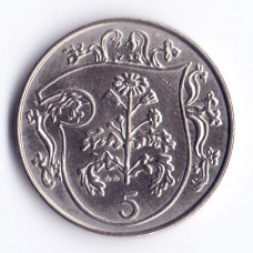 5 пенсов 1984 Остров Мэн - 5 pence 1984 Isle of Man