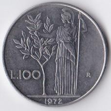 100 лир 1972 Италия - 100 lire 1972 Italy