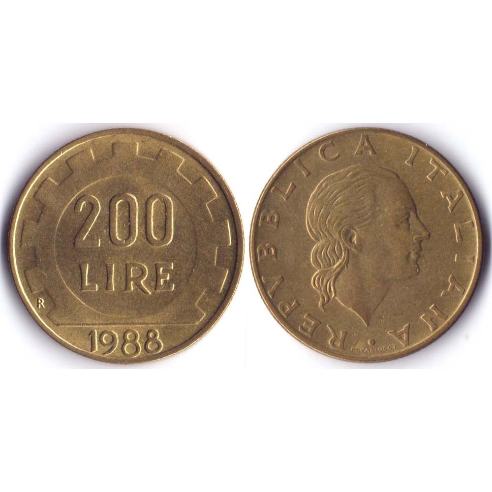 200 Lir 1988 Italia - 200 Лир 1988 Италия