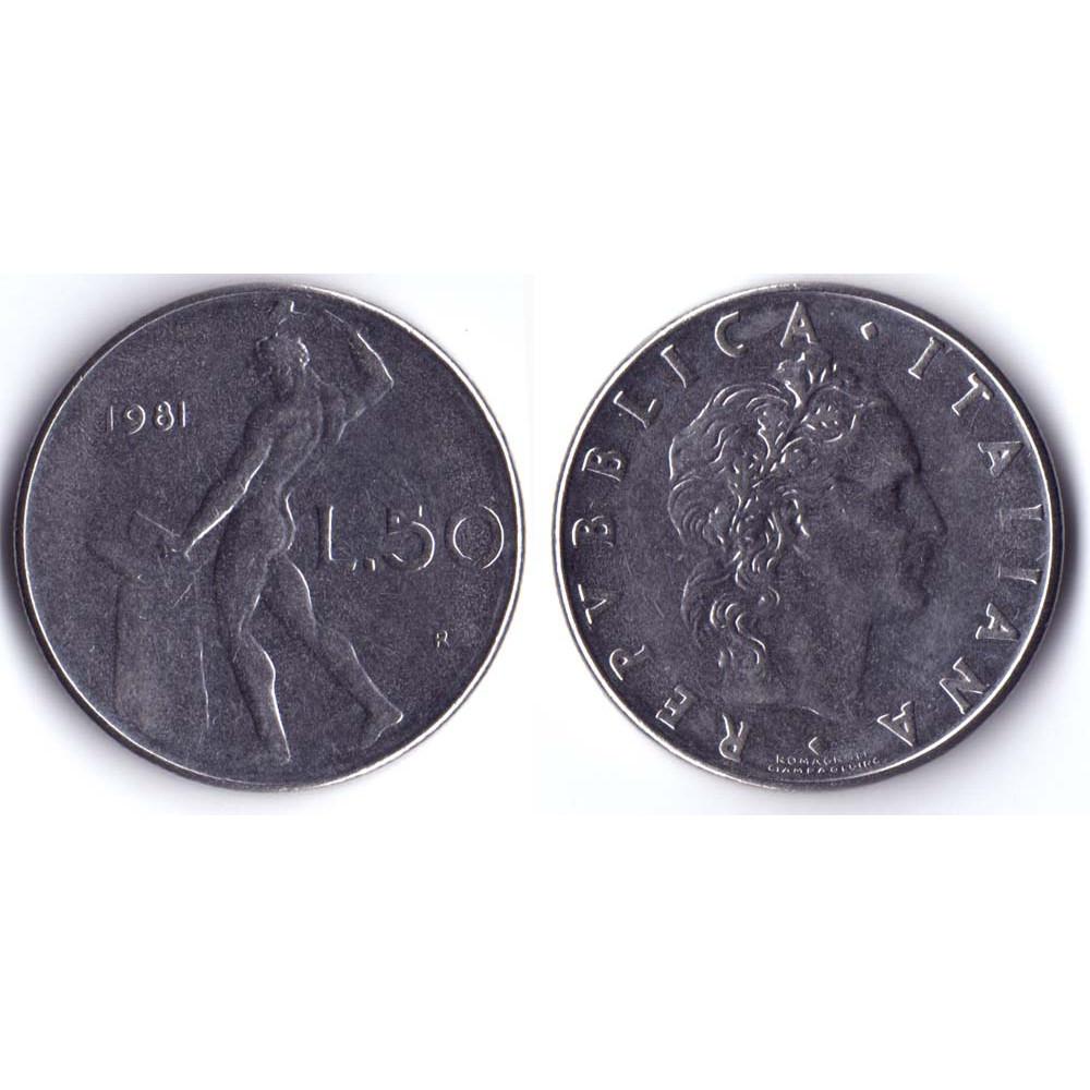 50 Lir 1981 Italia - 50 Лир 1981 Италия