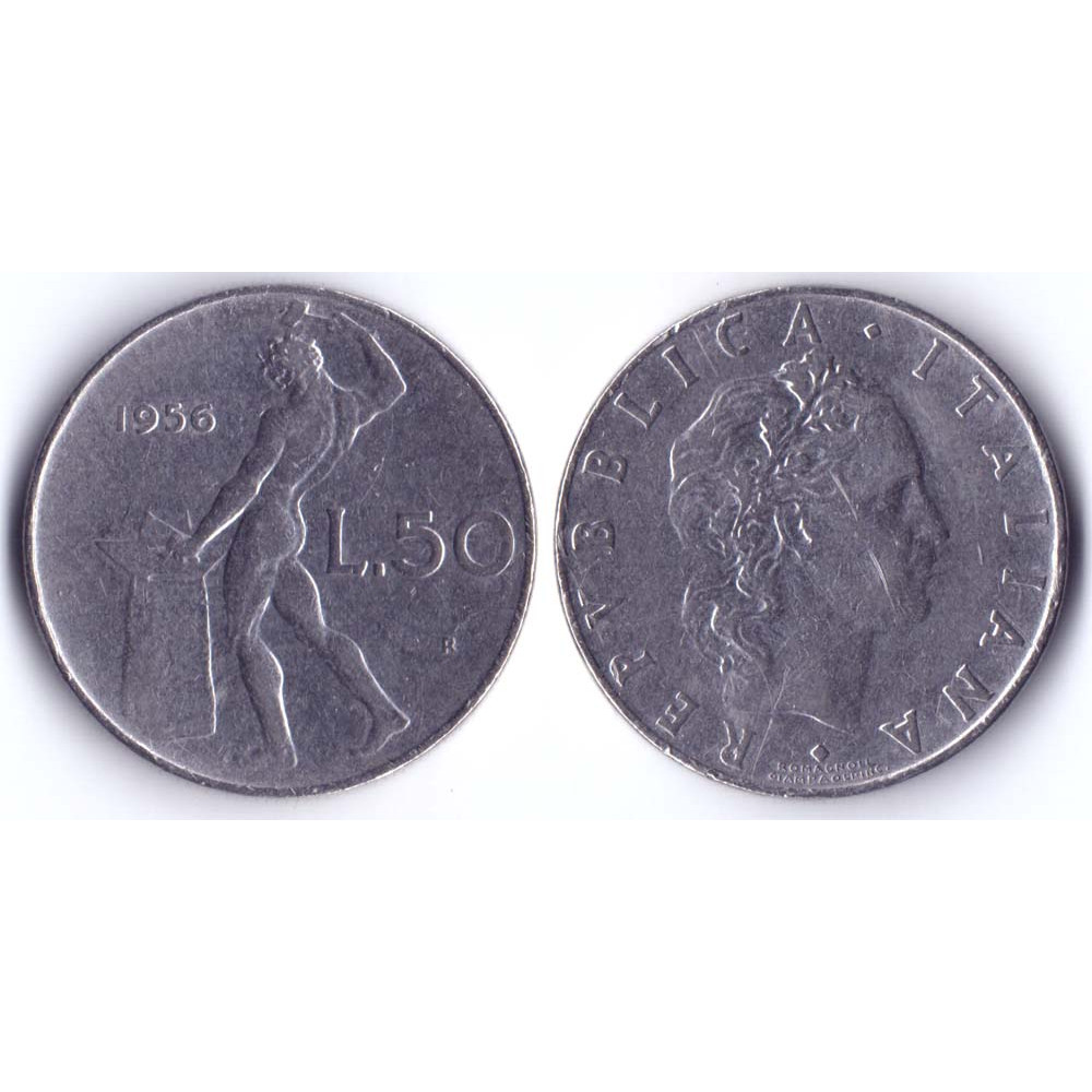 50 Lir 1956 Italia - 50 Лир 1956 Италия