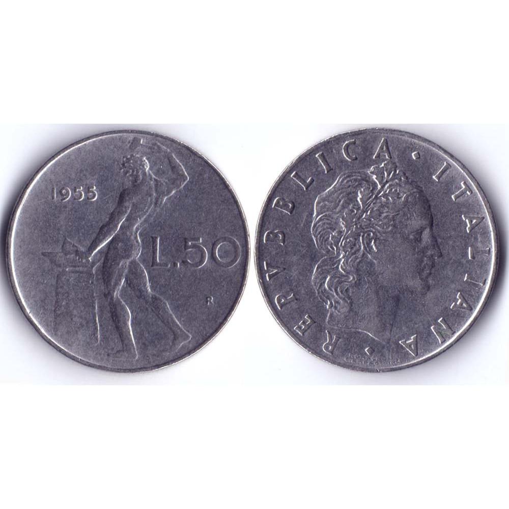 50 Lir 1955 Italia - 50 Лир 1955 Италия