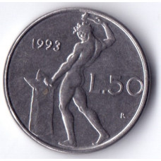 Италия 50 лир 1993
