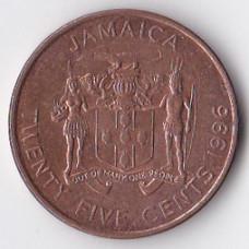 25 центов 1996 Ямайка - 25 cents 1996 Jamaica