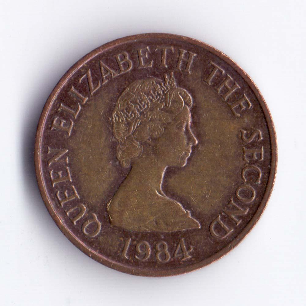 1 пенни 1984 Джерси - 1 penny 1984 Bailiwick of Jersey