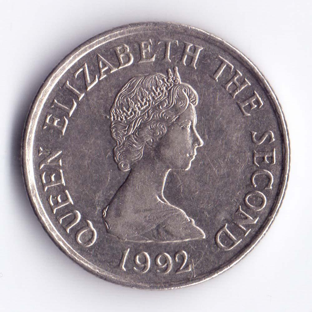 10 пенсов 1992 Джерси - 10 pence 1992 Bailiwick of Jersey