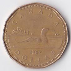 1 доллар 1987 Канада - 1 dollar 1987 Canada