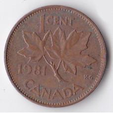 1 цент 1981 Канада - 1 cent 1981 Canada