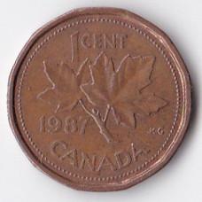 1 цент 1987 Канада - 1 cent 1987 Canada