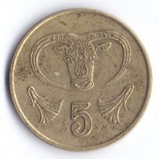 5 центов 1992 Кипр - 5 cents 1992 Cyprus