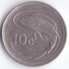 10 центов 1998 Мальта - 10 cents 1998 Malta, из оборота