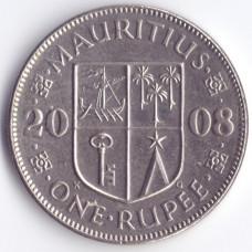 1 рупия 2008 Маврикий - 1 rupee 2008 Mauritius, из оборота