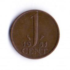 1 цент 1951 Нидерланды - 1 cent 1951 Netherlands